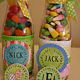 Jack & Nick's Easter Bottles designed using the Justrite Monogram Stamper