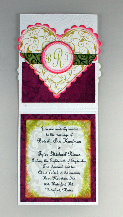 Flourishes - Flat view of inside of invite