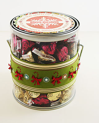 Back view of Chocolate Kisses Pail photo 2