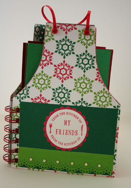 Front Cover of Christmas Apron Recipe Book- web size