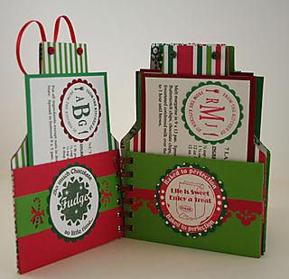 Christmas Apron Cook Book - interior aprons - 1