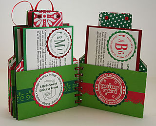 Christmas Apron - Cook Book Interior Pages Set 3