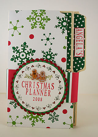 Front of Angela's Christmas Planner