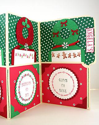 Angela's Christmas Agenda Close Up of Left Side