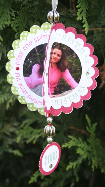 3-D Christmas Ornament with Photos- photo one