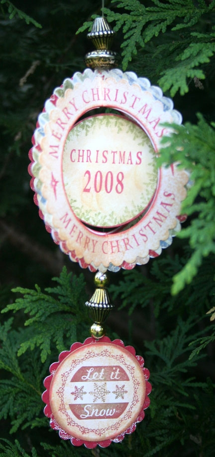 3- D Christmas Ornament Christmas 2008