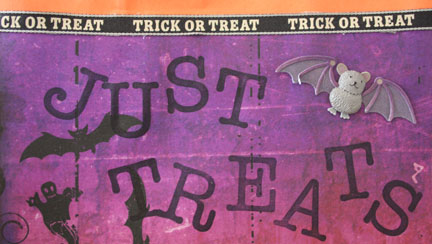 Close up of Just Treats words