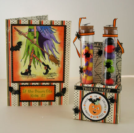 Set of cards - Card and Test Tubes Treats
