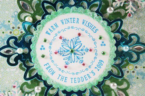 Close up of Snowflake Card