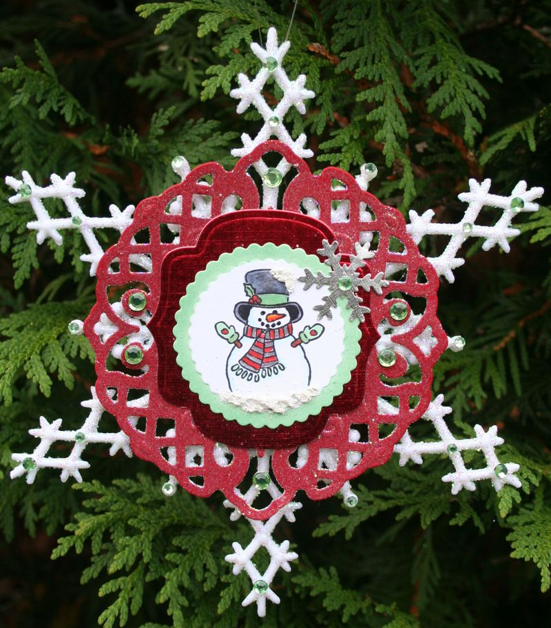 Lattice Snowman Snowflake photo 3