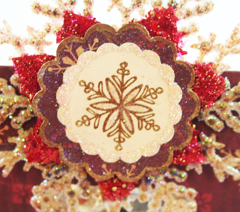 Close Up of Snowflake on Treat Wrap