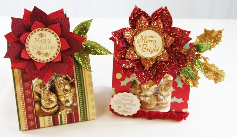 Pair of Poinsettia Treat Wrap Bags