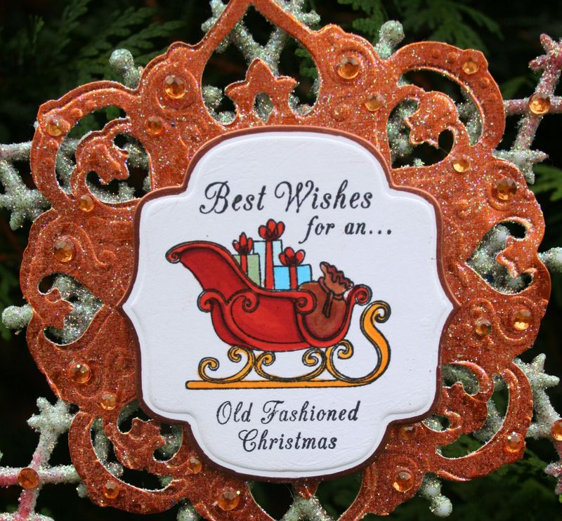 Spade Sleigh Snowflake photo 1- close up