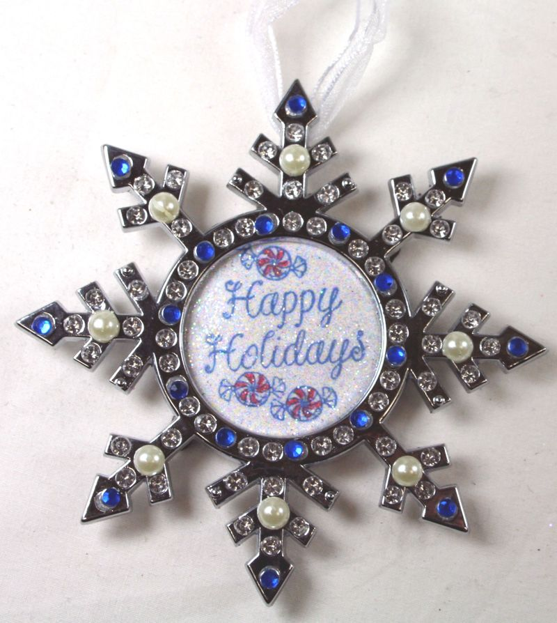 Snowflake Happy Holidays Ornaments