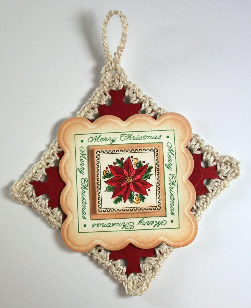 Big Scallop Crochet Ornament 2