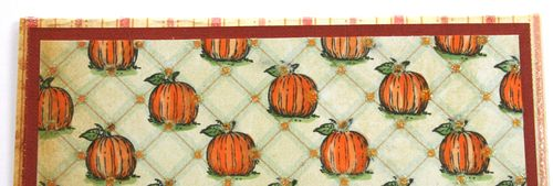 Section of Pumpkin designer paper card
