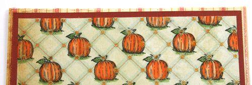 Section of Pumpkin designer paper card
