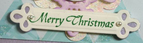 Close up of Merry Christmas tag for Simple Blessings