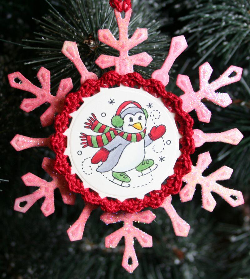 Close Up of Penquin Snowflake