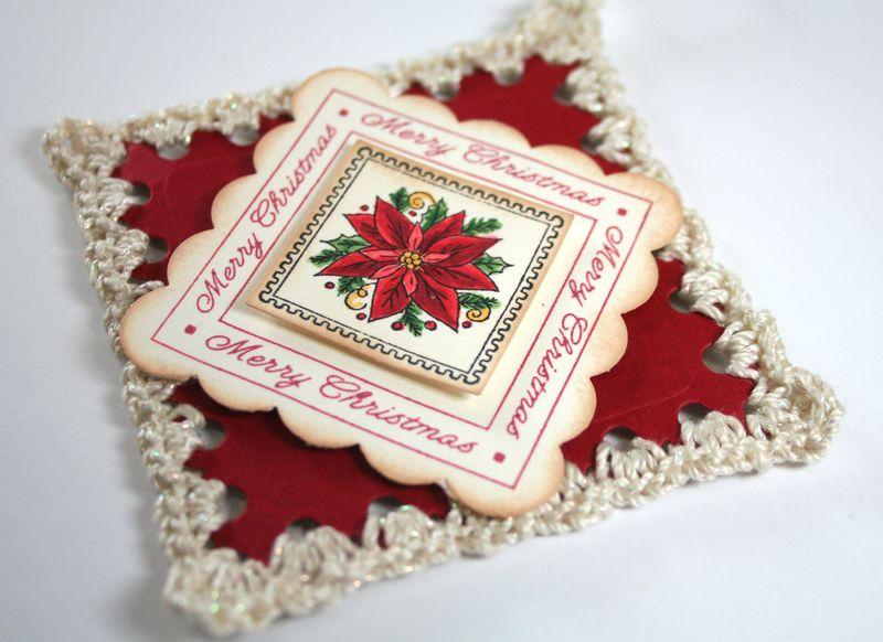 Close Up of Crochet Ornament