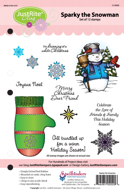 JR CL 02020 Sparky the Snowman PACKAGE