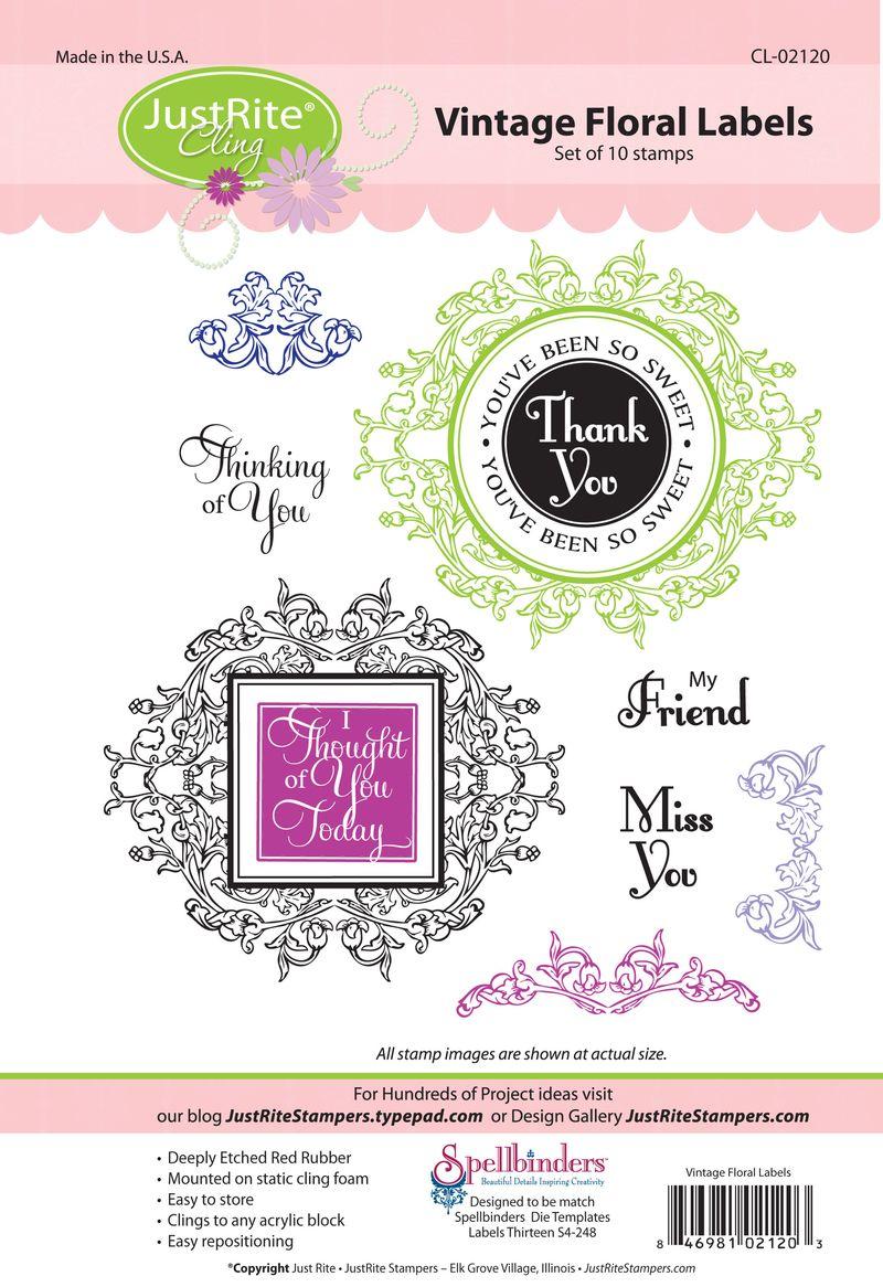 JR CL-02120 Vintage Floral Labels PACKAGE (2)