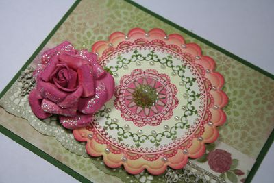 Close up of Grandma's Doilies
