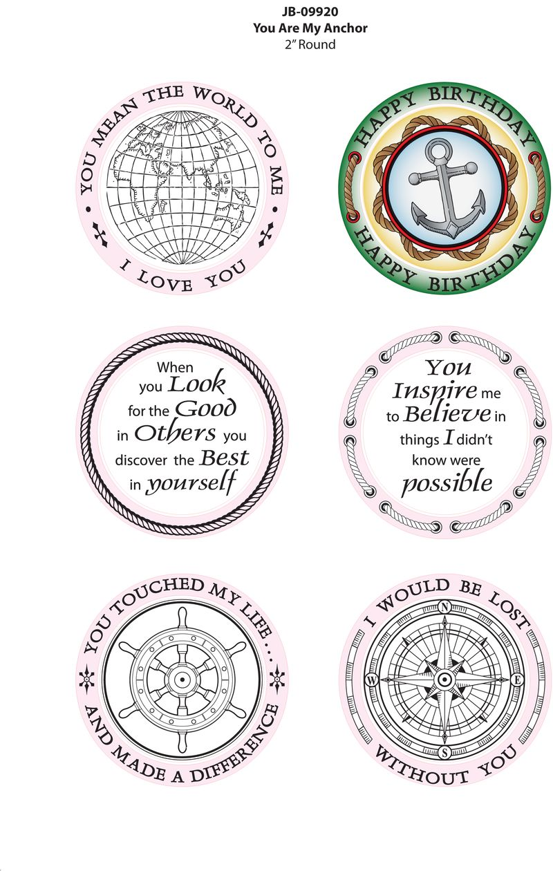 JB-09920 You Are My Anchor Colored