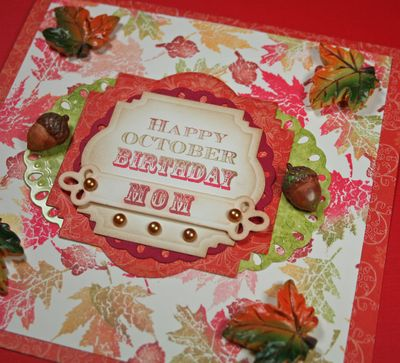 Close up 2 of Moms Birthday Card