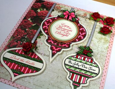 Close up Of Kellie's Merry & Bright Card
