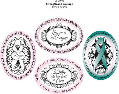 JB-09930 Strength and Courage Colored IMPRESSIONS