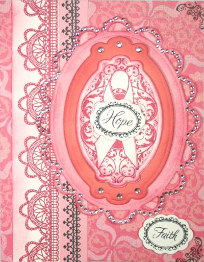 Be Strong and Lace Borders Card