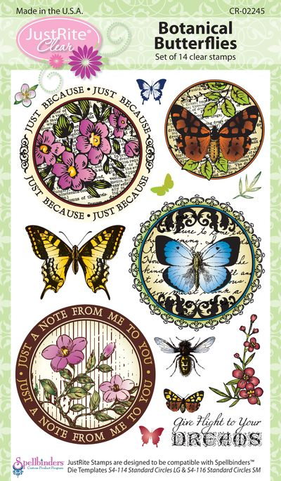 JR CR-02245 Botanical Butterflies (4)