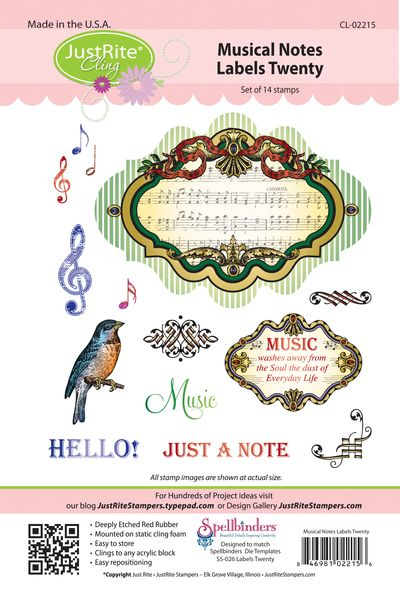 JR CL-02215 Musical Notes Labels Twenty (3)
