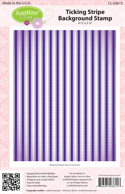 03615-lg Ticking Stripe Background Stamps