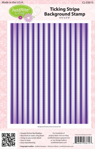 03615-lg Ticking Stripe Background Stamps