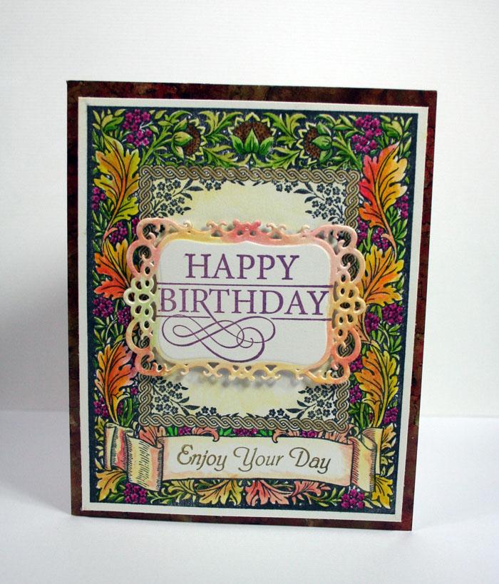 Floral Harvest Background Stamp Kellie Fortin 3