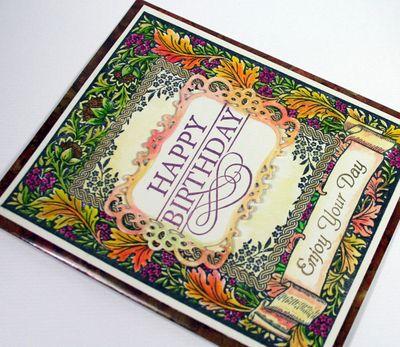 Close up of Floral Harvest Background Stamp