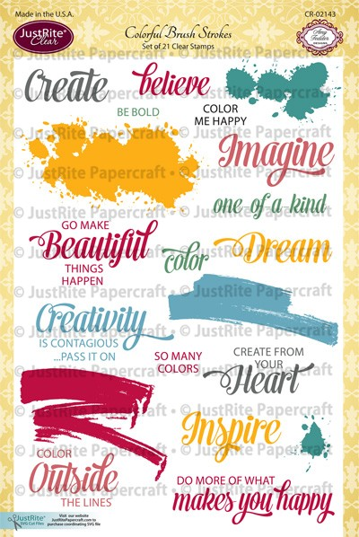 CR-02143_Colorful_Brush_Strokes_Clear_Stamps