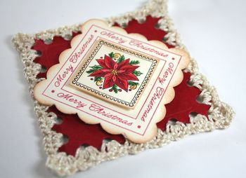 Close Up of Crochet Ornament