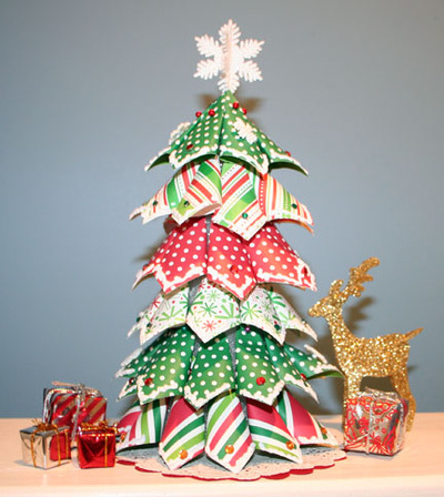 to Perfection: Christmas Tree 2 from American Crafts Christmas Scraps
